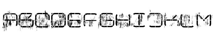R-2014 Eroded Font UPPERCASE