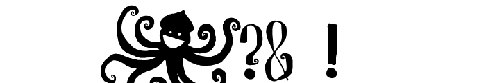 R. Squiddy Fancy Font OTHER CHARS