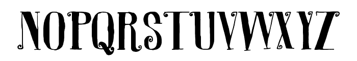 R. Squiddy Fancy Font LOWERCASE