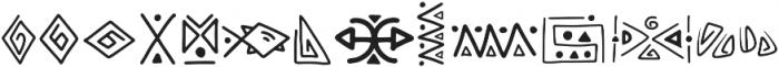 Rabsy pattern ttf (400) Font LOWERCASE