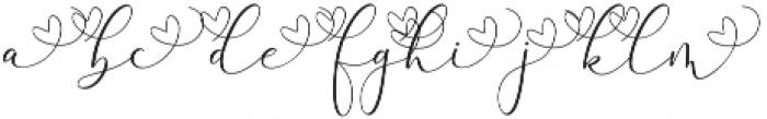Rachela Alternatif 1 Regular otf (400) Font LOWERCASE