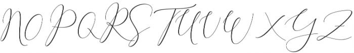Rachela Alternatif 2 Regular otf (400) Font UPPERCASE