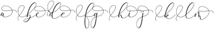 Rachela Alternatif 2 Regular otf (400) Font LOWERCASE