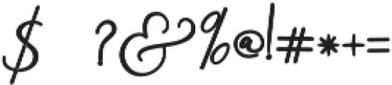 Rachela Alternatif 2 Regular otf (700) Font OTHER CHARS