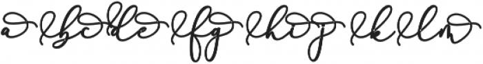 Rachela Alternatif 2 Regular otf (700) Font LOWERCASE
