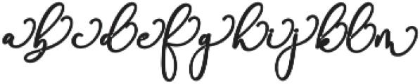 Rachela Alternatif 3 bold Regular otf (700) Font LOWERCASE