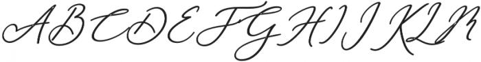 Rachela Bold Italic Regular otf (700) Font UPPERCASE