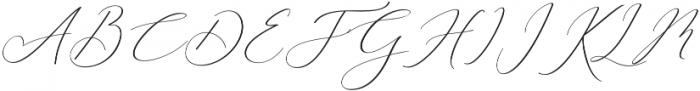 Rachela Italic Regular otf (400) Font UPPERCASE