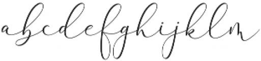 Rachela Regular otf (400) Font LOWERCASE
