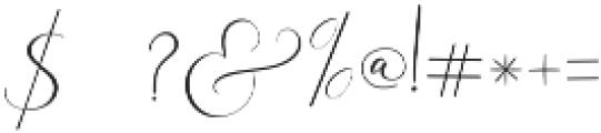 Rachela Script Alternatif 5 Regular otf (400) Font OTHER CHARS