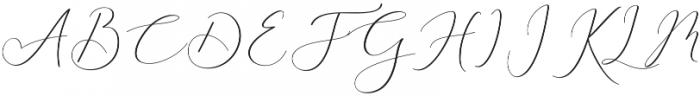 Rachela Script Alternatif 5 Regular otf (400) Font UPPERCASE