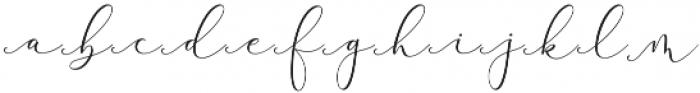 Rachela Script Alternatif 5 Regular otf (400) Font LOWERCASE