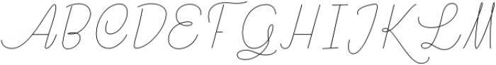 Rachele Light Cd otf (300) Font UPPERCASE