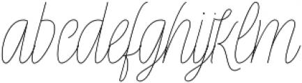 Rachele Light Cd otf (300) Font LOWERCASE
