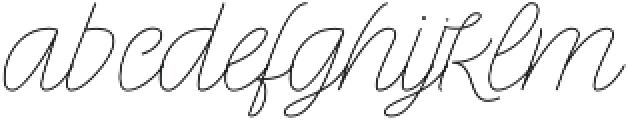 Rachele Light Exp otf (300) Font LOWERCASE