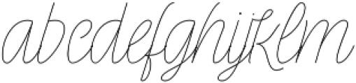 Rachele Light Semi otf (300) Font LOWERCASE