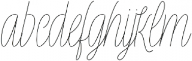 Rachele Light UltrCd otf (300) Font LOWERCASE