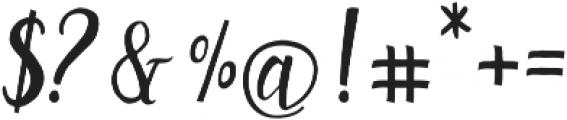 Rachelle otf (400) Font OTHER CHARS