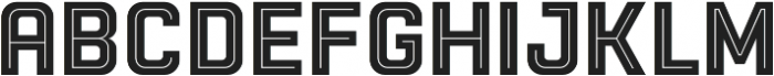 Racon InlineBold otf (700) Font UPPERCASE