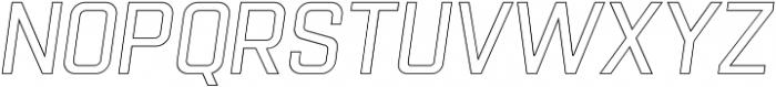 Racon Outline S otf (400) Font LOWERCASE