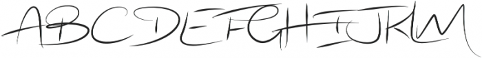 Radical Outcast otf (400) Font UPPERCASE