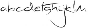 Radical Outcast otf (400) Font LOWERCASE
