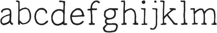 Radka ttf (400) Font LOWERCASE