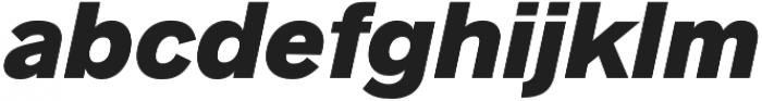 Radnika Black Italic otf (900) Font LOWERCASE