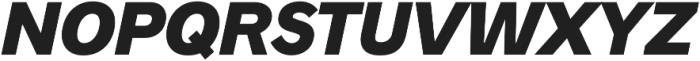 Radnika Black Italic ttf (900) Font UPPERCASE