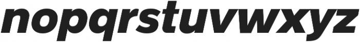 Radnika Black Italic ttf (900) Font LOWERCASE