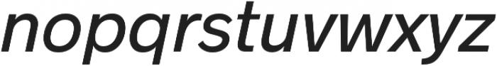 Radnika Medium Italic otf (500) Font LOWERCASE