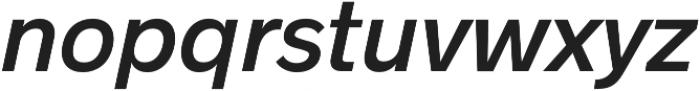 Radnika SemiBold Italic otf (600) Font LOWERCASE