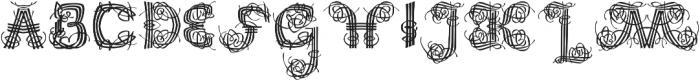 Raffish Regular otf (400) Font LOWERCASE