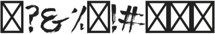 Raid otf (400) Font OTHER CHARS