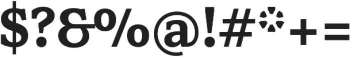 Rail otf (700) Font OTHER CHARS