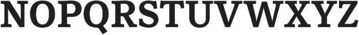 Rail otf (700) Font UPPERCASE