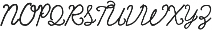 Rainbows Queen Curly otf (400) Font UPPERCASE