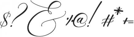 Raja Ampat Script ttf (400) Font OTHER CHARS