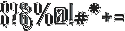 Rajawaley Drop Shadow ttf (400) Font OTHER CHARS