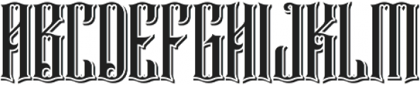 Rajawaley Drop Shadow ttf (400) Font UPPERCASE