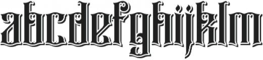 Rajawaley Drop Shadow ttf (400) Font LOWERCASE