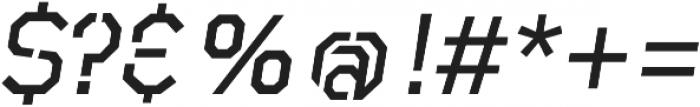 Raker Stencil Medium Italic otf (500) Font OTHER CHARS