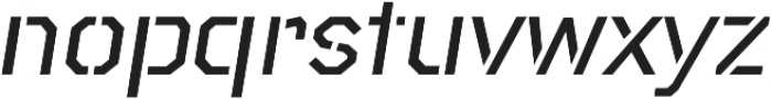 Raker Stencil Medium Italic otf (500) Font LOWERCASE