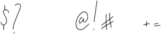 Rakhino otf (400) Font OTHER CHARS