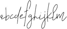 Rakhino otf (400) Font LOWERCASE