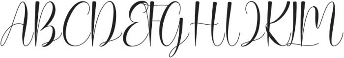Rallisha Regular ttf (400) Font UPPERCASE