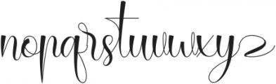 Rallisha Regular ttf (400) Font LOWERCASE