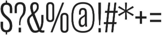 Rama Gothic E Light otf (300) Font OTHER CHARS