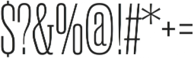 Rama Slab M Thin otf (100) Font OTHER CHARS
