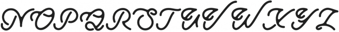 Ramblin Regular otf (400) Font UPPERCASE